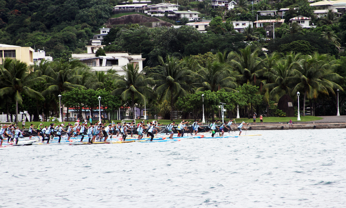 air france paddle festival 2017 lagoon start