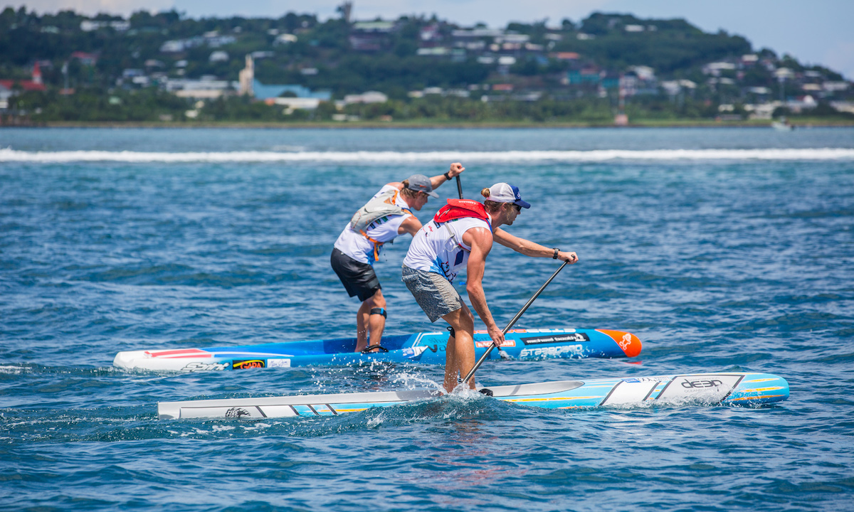 marcus hansen and sonni honscheid victorious at air france paddle festival 6