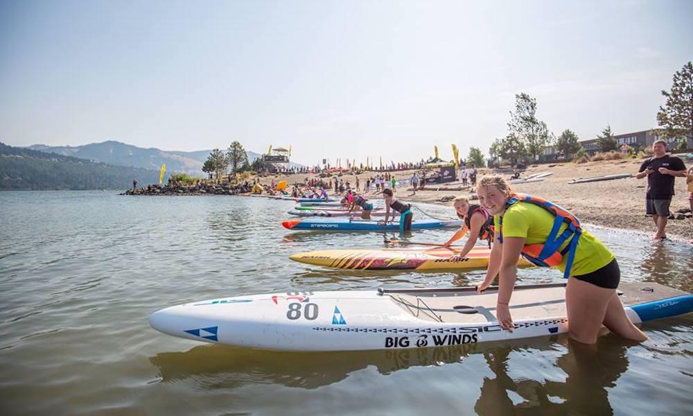 gorge paddle challenge 2018 groms georgia schofield photo