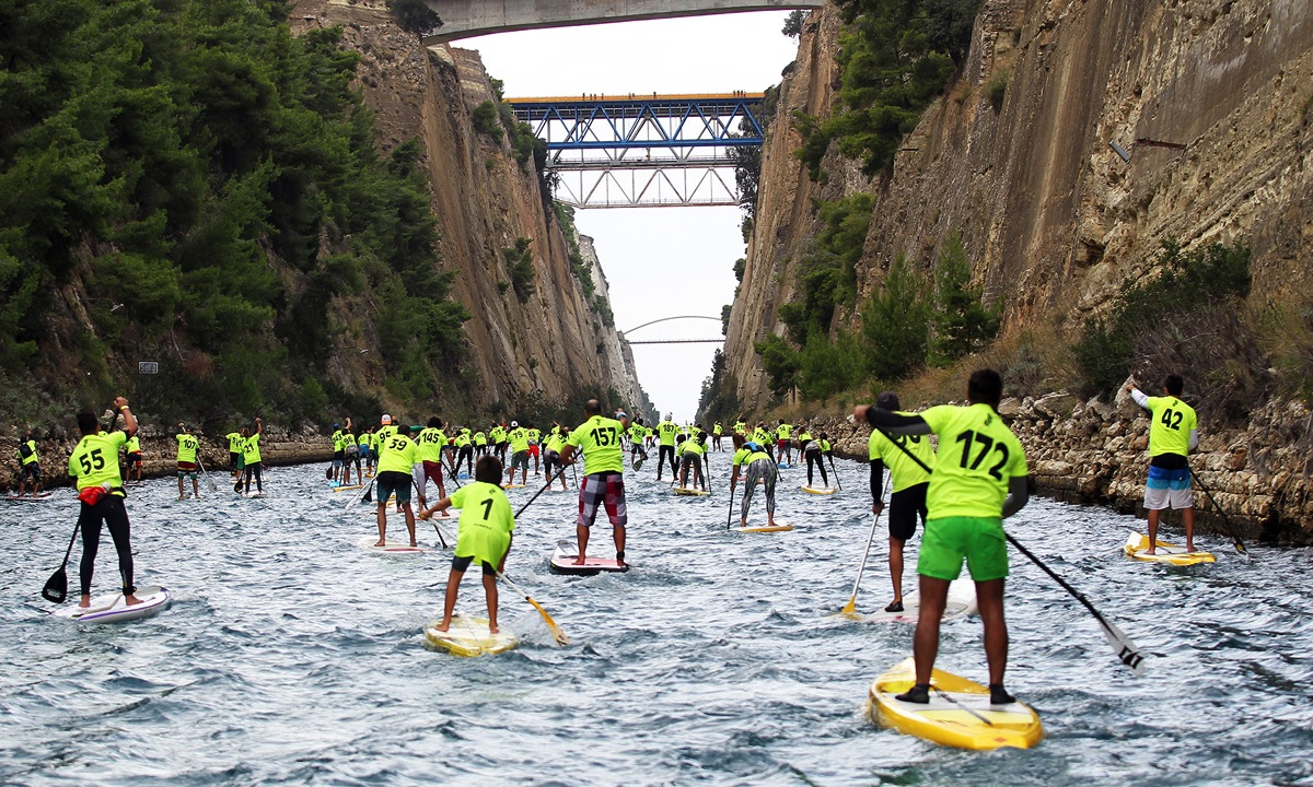 corinth canal sup crossing 2015 1