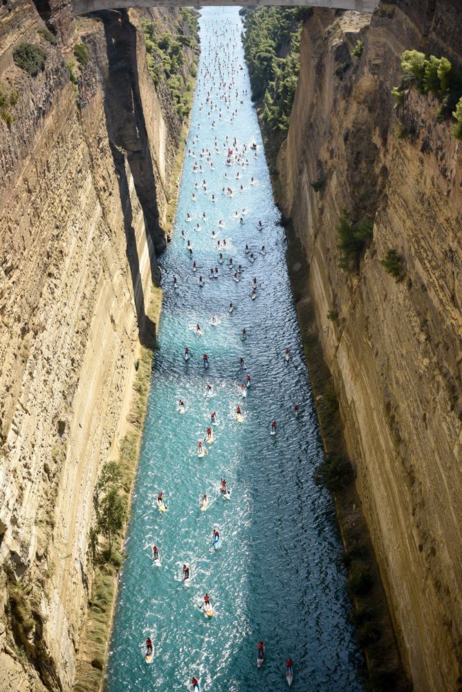 2018 corinth canal sup crossing 2