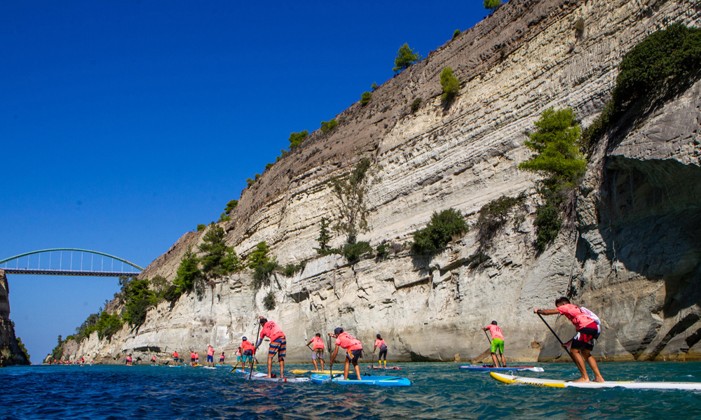 2018 corinth canal sup crossing 8