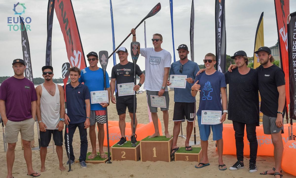 hossegor paddle games 2017 men podium