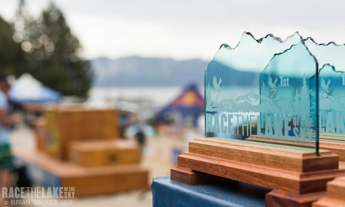 2015 race the lake trophies