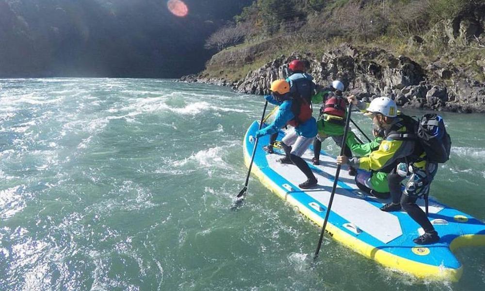 group sup fun rafting