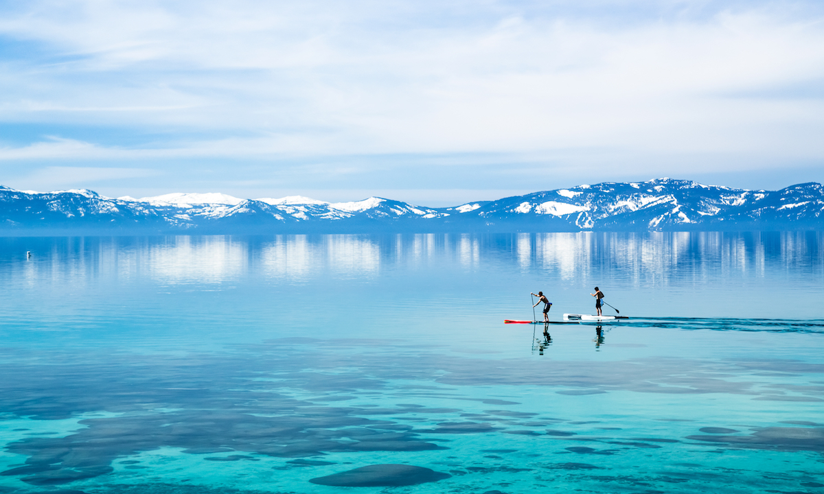 paddle boarding with a cold 1