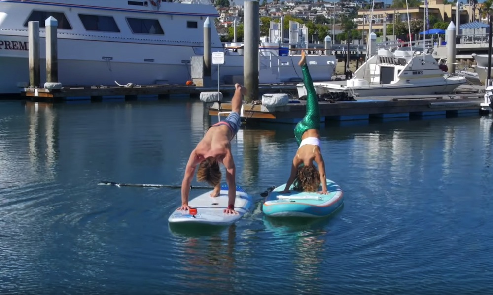 sup yoga advanced pose downward dog