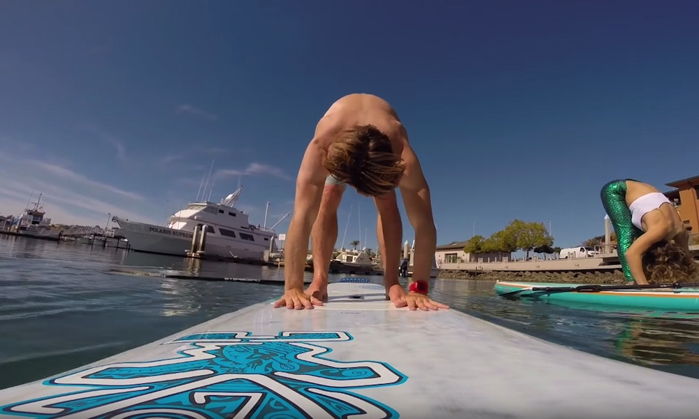 sup yoga advanced pose forward bend