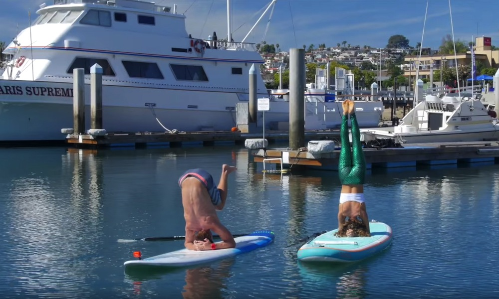 sup yoga advanced pose headstand