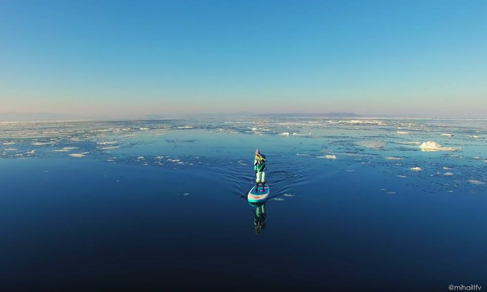 paddle boarding russia video