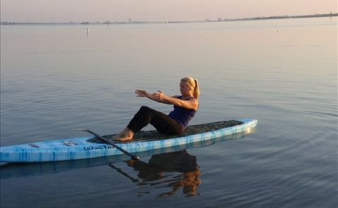 Stand Up Paddle Pilates - Half Roll Down