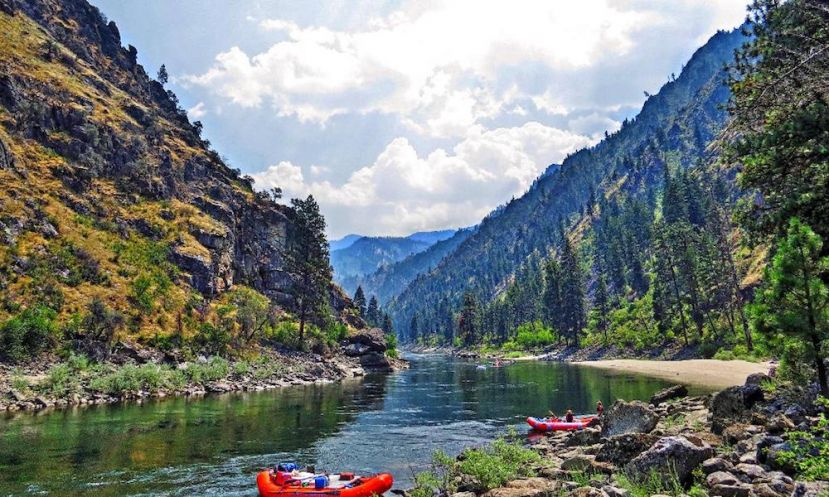 Paddle Boarding Central Idaho, U.S.A