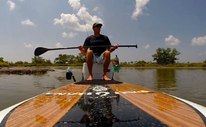 SUP Fishing Video On The WaveJet EZ Angler
