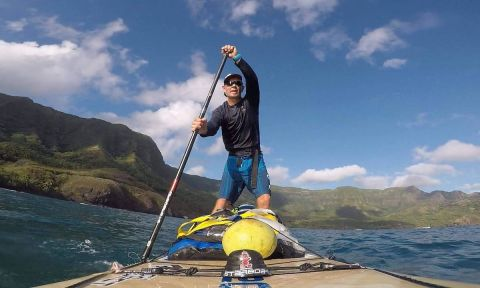Bart de Zwart embarks on his first crossing from Hiva Oa to Fatu Hiva. | Photo courtesy: Bart de Zwart