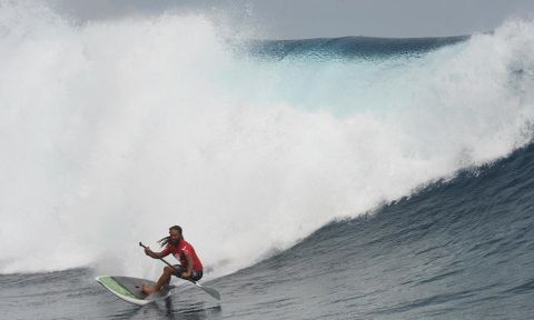 Hawaiian, Keali'i Mamala came on top in a tightly contested final, picking off the best set waves and driving smooth, but powerful turns on his way to victory. | Photo Courtesy: Waterman League