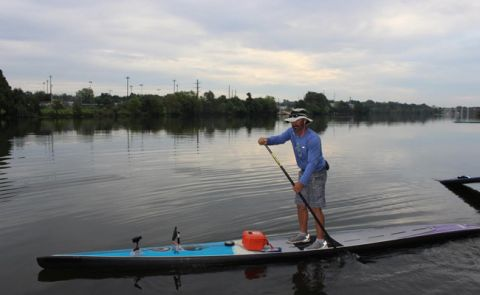 Shane Perrin Sets New SUP World Record