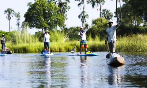 Chris Bertish leads a team of Intrepid Explorers as the first team to navigate the wild and rugged area NG32 of the Botswana, Okavango Delta.