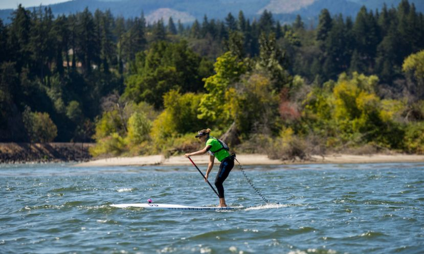Seychelle racing in the 2017 Columbia Gorge Paddle Challenge in Hood River, Oregon | Photo courtesy: Bob Stawicki