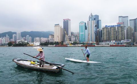 First Round Hong Kong Island by SUP