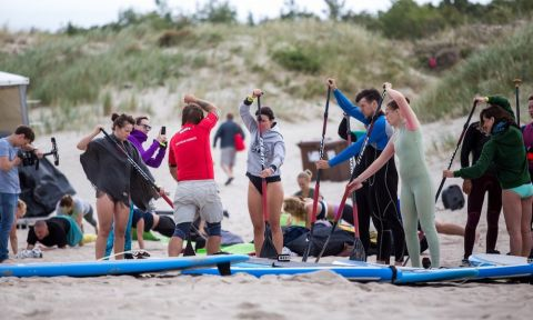 Lithuania launched a slew of ISA Educational Courses in 2017, holding an ISA Judging Course, ISA/ILS International Surf + SUP Instructor Aquatic Rescue and Safety Course, ISA Surf Level 1 Course, and ISA Flat Water SUP Instructor Course. | Photo: Lithuania Surfing Association