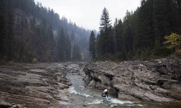 Expedition Paddling Down The Desolate South Fork Flathead River