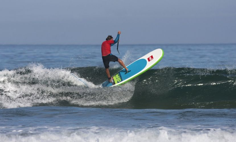 Xavi Masdevall ripping on his inflatable SUP from Red Paddle Co.