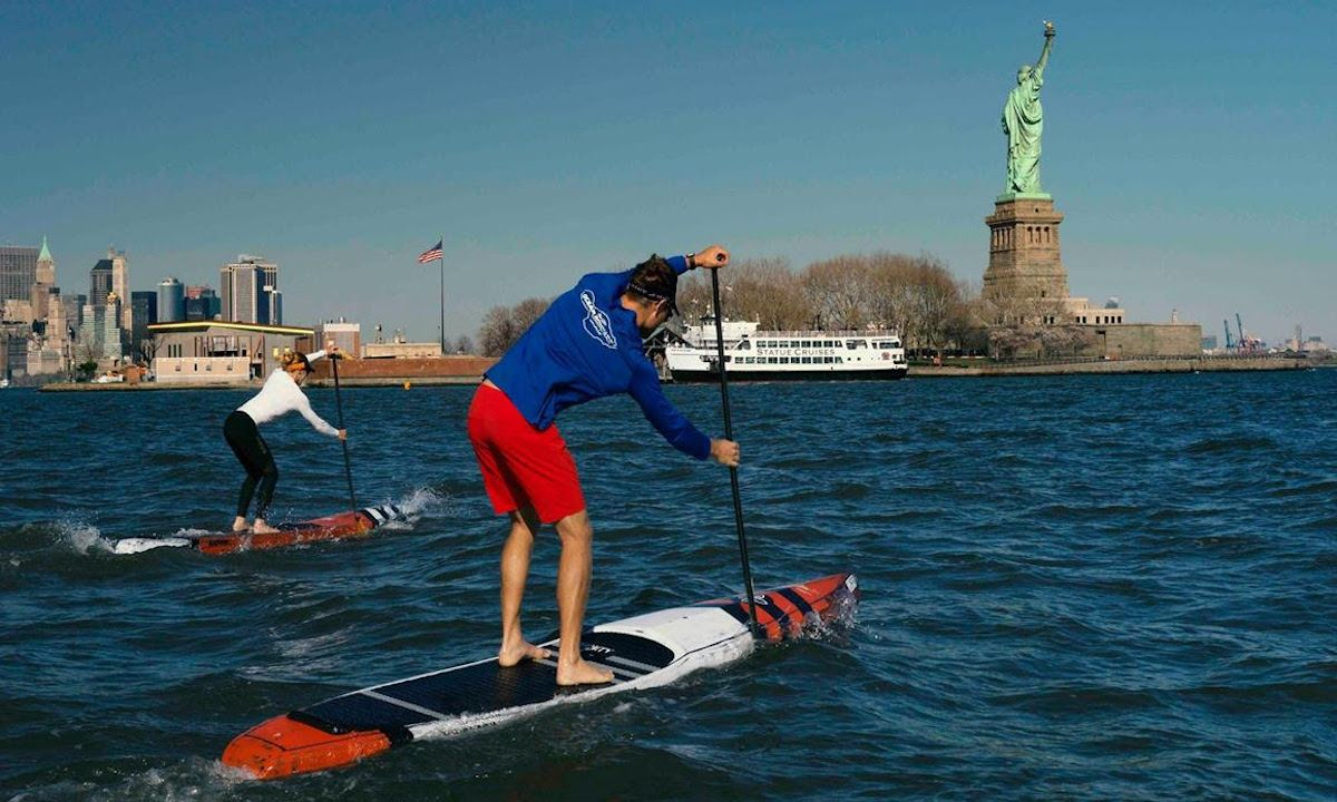 A look at the NY SUP Open course. | Photo courtesy: APP World Tour