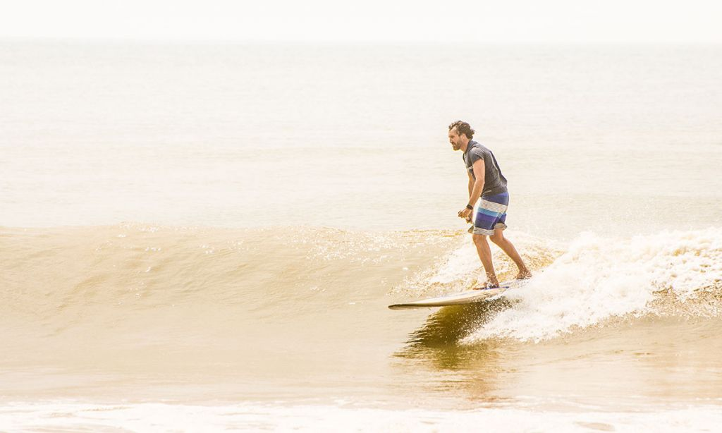 Franz Orsi SUP surfing in Sri Lanka. | Photo courtesy: Franz Orsi