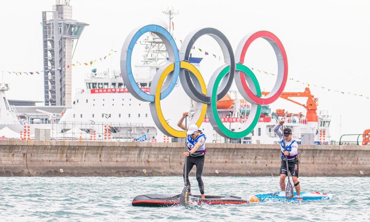 Michael Booth, right, in competition. | Photo courtesy: International Canoe Federation