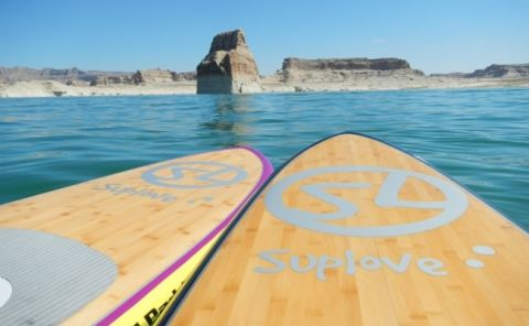 Paddle Boarding Lake Powell, Arizona