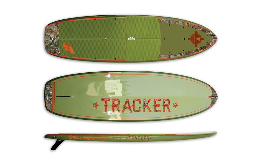 Boardworks strengthens its dedication to fisherman this season with the release of the Tracker SUP, a new angling-specific SUP board with a fish-approved color scheme.