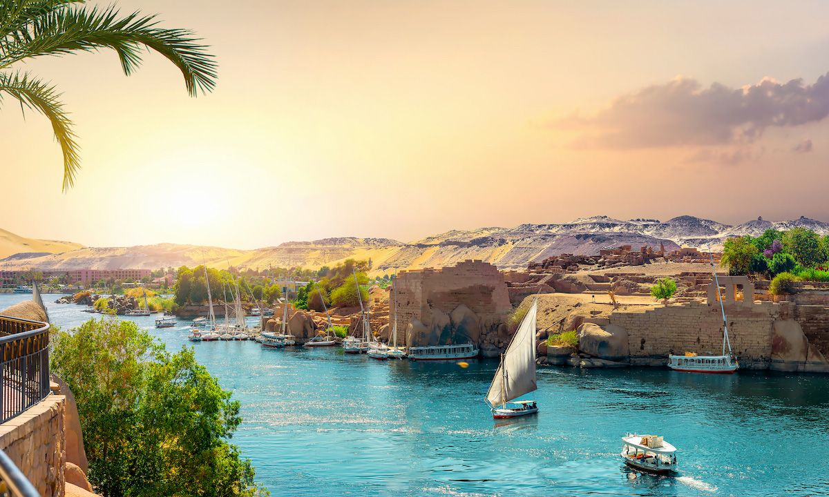 Photo of the Nile River, in Aswan, Egypt. | Photo: Shutterstock