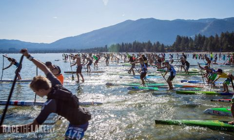 Race the Lake of the Sky 2015 start line. | Photo: Sean Davis