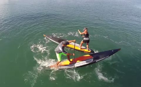 Mike Tavares And Haley Mills Test Boardworks 2015 Eradicator Race SUPS
