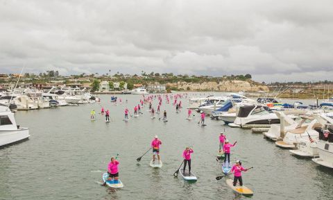 Sea of pink at the 2017 Standup for the Cure in Newport Beach. | Photo Courtesy: Standup for the Cure