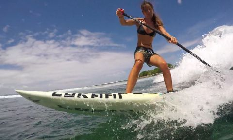 Delphine Macaire SUP Surfing Siargao, Philippines