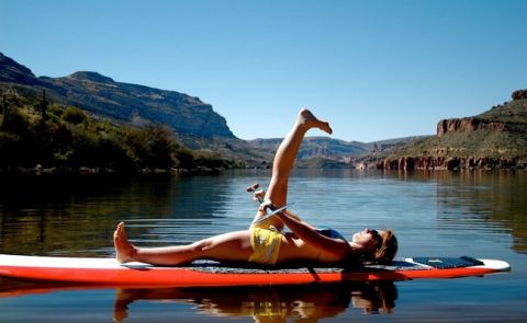 SUP Yoga - Reclining Big Toe Pose