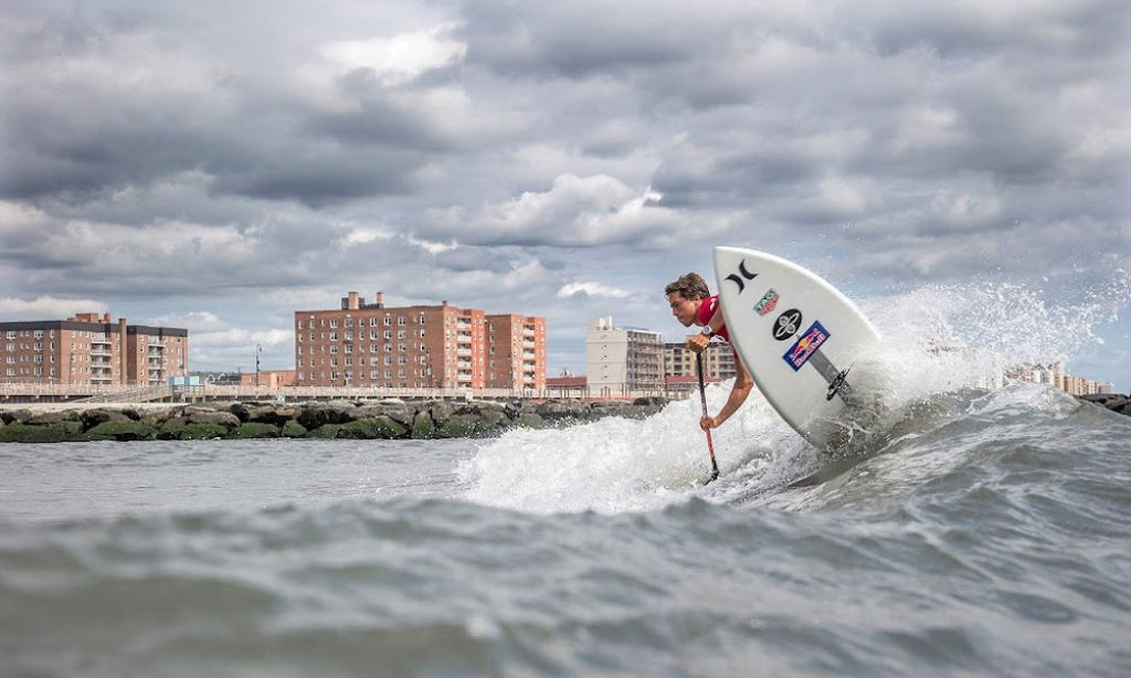 NY SUP Open Sees Major Upsets on Day 2 of Surfing