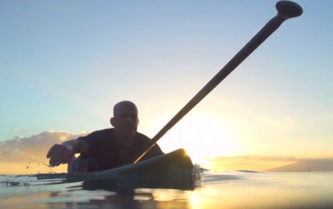 Facing Waves In Tahiti With BIC SUP