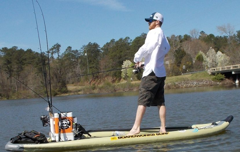 Ready-made fishing cooler makes it a one trip to the water for SUP anglers. | All photos courtesy of Bonefish Cooler