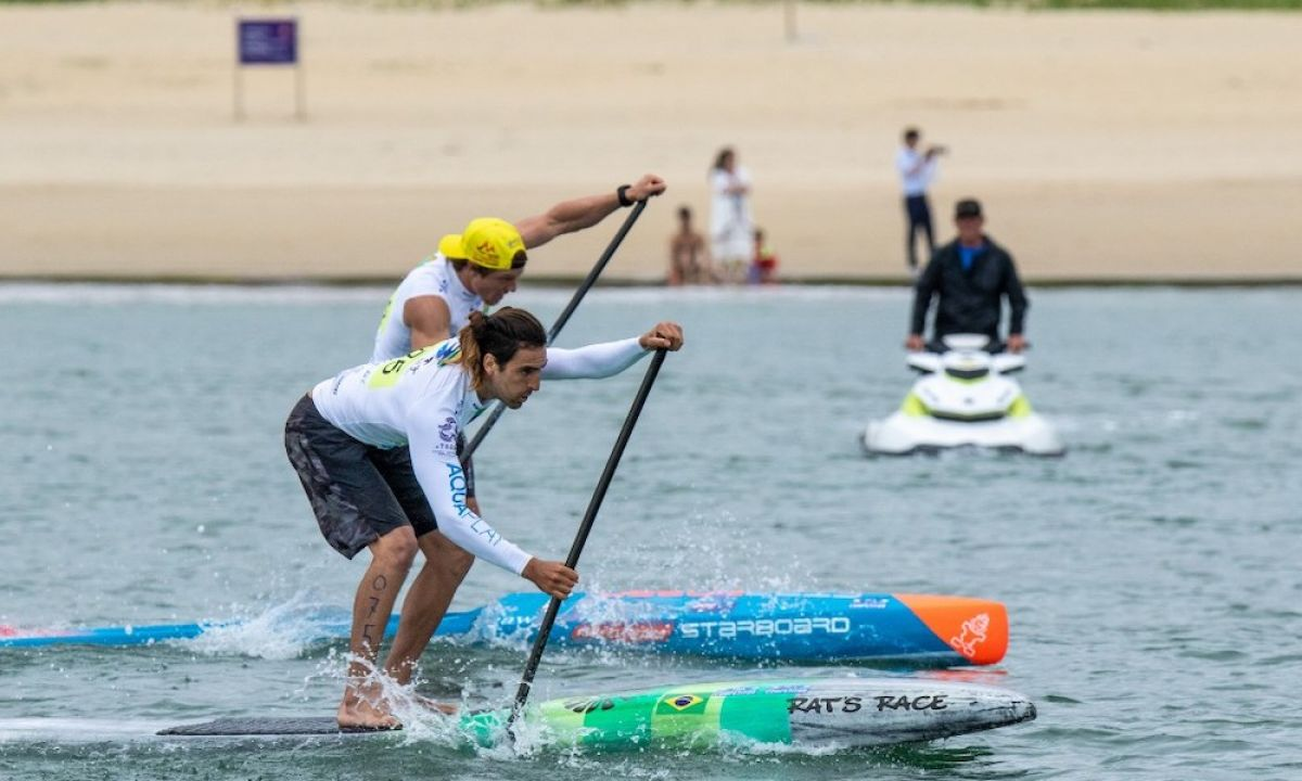 Brazil's Arthur Carvalho will return to defend his Gold Medal in the Men's SUP Sprint. | Photo: ISA / Pablo Jimenez