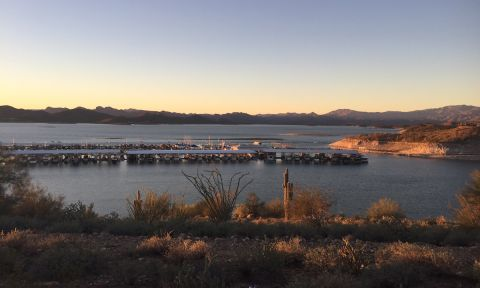 View of Lake Pleasant in Arizona.