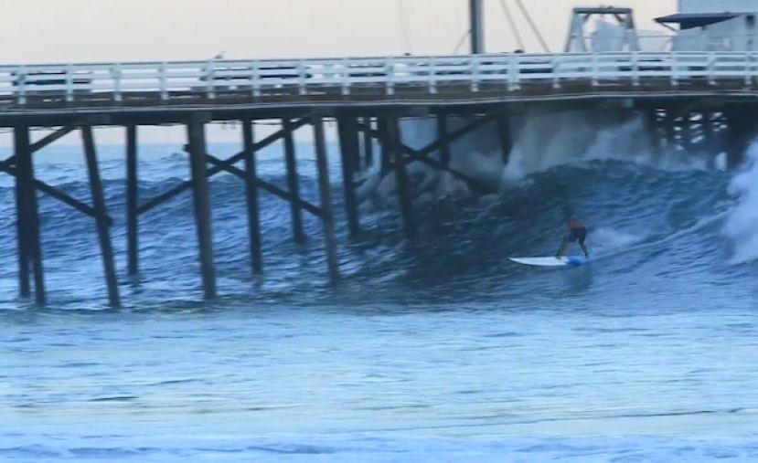 Laird Hamilton Shoots Malibu Pier On SUP