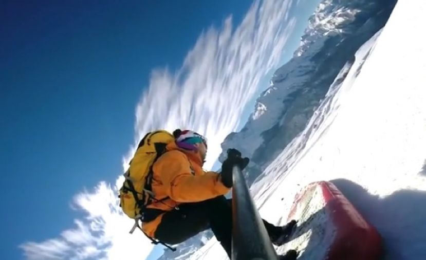 Watch Extreme SUP Snow Video