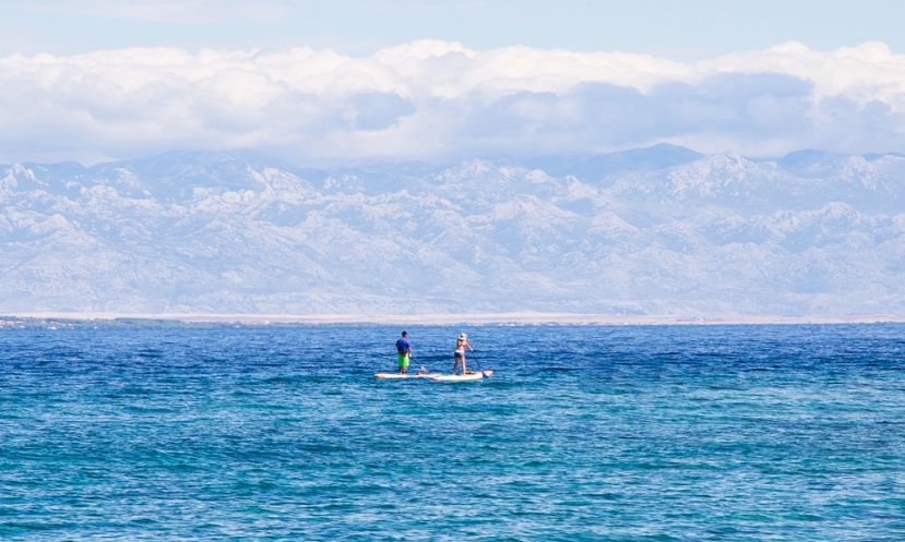 Paddle Boarding Island Molat in Croatia