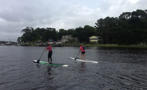Kacie and Kim Paddleboard the N.C. Coastline