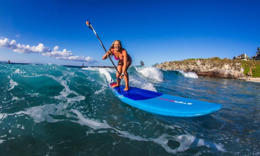 World Champion and Starboard SUP athlete Izzi Gomez knows how to have fun in the water. | Photo: Starboard / Georgia Schofield