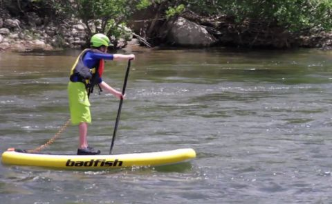 "Boardworks Reveals 2015 Badfish Inflatable River Surfer ""IRS"""