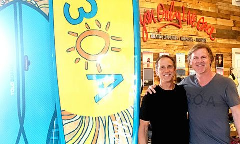 Jeff Archer of YOLO Board and Mike Ragsdale of 30A.