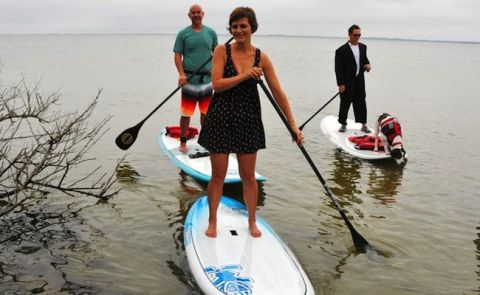 Couple Gets Married On Paddleboards